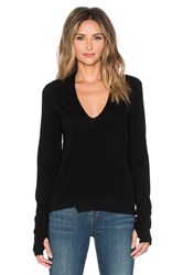 Inhabit Thumbhole Stretch V Neck Sweater Black