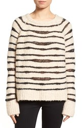 Zadig And Voltaire Women's Kary Open Knit Stripe Sweater