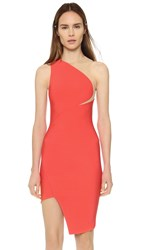 Thierry Mugler Sleeveless Dress Coral