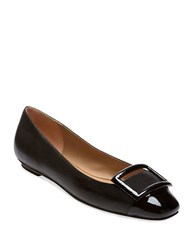 Delman Foray Leather Flats Black