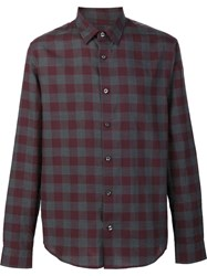 Vince Checked Shirt Red