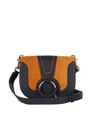 See By Chloe Hana Small Suede And Leather Cross Body Bag Tan Multi