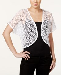 Styleandco. Style And Co. Petite Cropped Shrug Only At Macy's Bright White