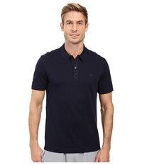 Lacoste Short Sleeve Mercerized Pique Polo W Tonal Embroid Croc Navy Blue Men's Short Sleeve Pullover