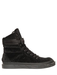 D By D Faux Fur High Top Sneakers