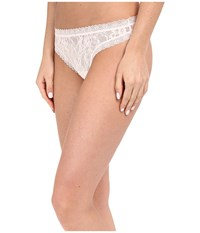 Dkny Signature Lace Thong 576000 Ballet Pink Pale Pink Women's Underwear White