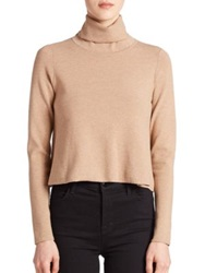 Milly Turtleneck Sweater Camel
