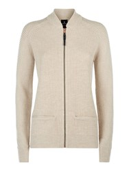 Victorinox Christin Zip Up Cardigan Cream