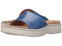 Born Benitez Sea Blue Full Grain Leather Women's Sandals