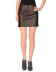 Cnc Costume National Costume National Mini Skirts Brown