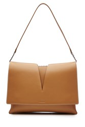 Jil Sander Leather Shoulder Bag Camel