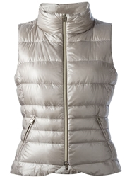 Herno Zipped Gillet Nude And Neutrals