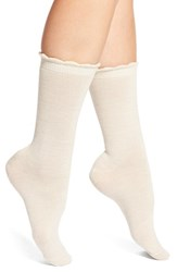 Women's Nordstrom Merino Wool Blend Socks Oatmeal