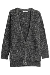 Closed Chunky Cardigan With Wool Grey