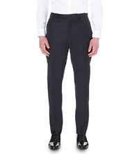 Reiss Harry Regular Fit Straight Wool Trousers Navy