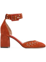 Red Valentino Eyelet Detail Pumps Red