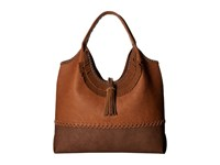 Steve Madden Jkhloe Hobo Leather Trim Tan Hobo Handbags