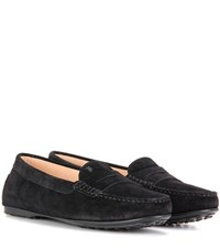 Tod's Gommini Suede Loafers Black