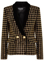 Balmain Black Diamond Studded Blazer