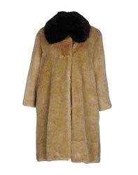 Ainea Coats And Jackets Faux Furs Women Sand
