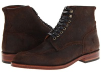 Frye Walter Lace Up Dark Brown Waxed Suede Men's Boots