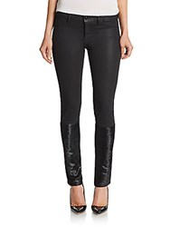 Dl1961 Emma Leather Paneled Skinny Jeans Montgomery