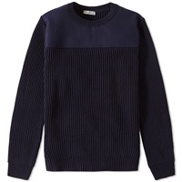 Valentino Panel Crew Knit Blue