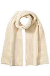 Closed Scarf With Alpaca And Wool White
