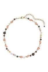 Sorrelli Multicolor Crystal And Stone Necklace Black