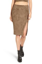 Missguided Women's Faux Suede Skirt