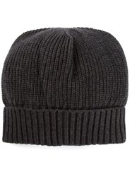 Dolce And Gabbana Slouch Fit Beanie Grey