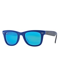 Ray Ban Folding Wayfarer Sunglasses Blue
