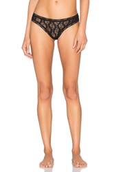 Only Hearts Club Stretch Lace Thong Black