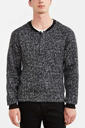 Native Youth Cozy Henley Sweatshirt Black Multi