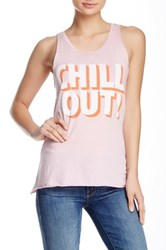 Junk Food Printed Muscle Tank Pink