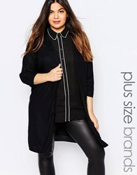 Junarose Duster Coat Black