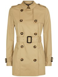Jaeger Short Classic Trench Coat Stone