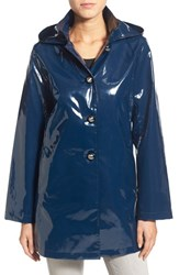 Women's Jane Post 'Princess' Rain Slicker With Detachable Hood Teal