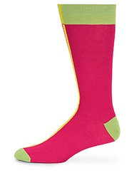 Saks Fifth Avenue Red Capped Socks Pink