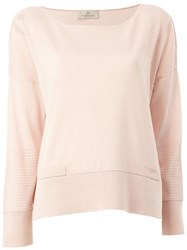 Maison Ullens Perforated Detailing Knitted Blouse Pink And Purple