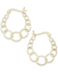 Giani Bernini Graduated Link Hoop Earrings In 18K Gold Plated Sterling Silver Only At Macy's