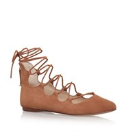 Nine West Signmeup9 Lace Up Ballerina Pumps Taupe