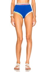 Kiini Tuesday High Rise Bikini Bottom In Blue