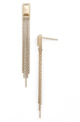 Melinda Maria 'Jules' Fringe Stud Earrings Gold