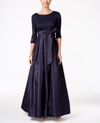 Jessica Howard Lace A Line Gown Navy