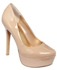 Jessica Simpson Waleo Platform Pumps Women's Shoes Nude Patent
