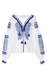March11 Namibia Linen Embroidered Blouse White