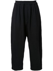 Gold Milling Wool Balloon Trousers Black