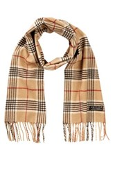 Amicale Cashmere Plaid Scarf Brown