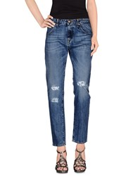Truenyc. Denim Denim Trousers Women Blue